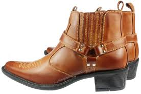 cowboy boots uk leather brass mens eastwood brown high cuban heel cowboy ankle boots