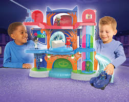amazon play pj masks headquarters playset toys u0026 games
