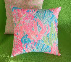 Lilly Pulitzer Home Decor Fabric New 14 Square Pillows Made With 2013 Lilly Pulitzer Fabrics
