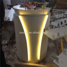 Small Salon Reception Desk Salon Reception Desk Design Led Light Small Round Shape Reception