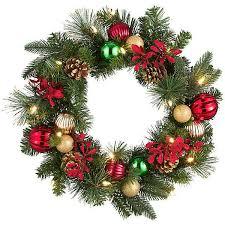 improvements indoor outdoor lighted christmas garland improvements merry and bright lighted christmas wreath 16 107 540