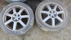 subaru gdb genuine enkei rfrb alloy wheels with tyres 5x100 17