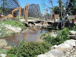 New Jersey Six Flags Address Six Flags Great Adventure Hurricane Irene Flood Repairs