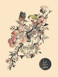 skull and flower designs best designs