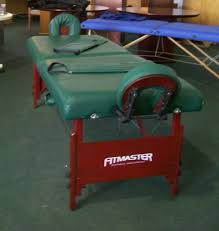 used portable massage table for sale used fitmaster portable massage table w case cabinetry furnishings