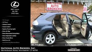 lexus suv used ct 2007 lexus rx 350 fwd 4dr national auto brokers inc waterbury