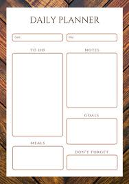notepad template for word daily planner templates canva