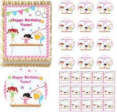 gymnastics cake toppers gymnast tumbling beam edible cake topper image frosting
