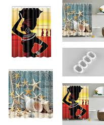 visit to buy 2017 new shower curtains waterproof beach shells
