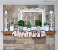 Mantel Decorating Tips White And Green Spring Mantel In The Garage