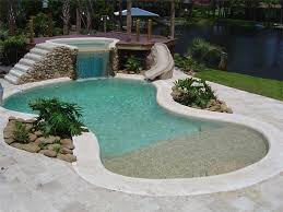 Backyard Pool With Slide Residential Swimming Pools Construction And Renovation