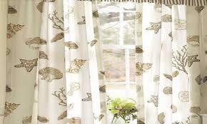 kitchen curtains with a beach theme beach themed window curtains
