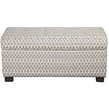 Kinfine Storage Ottoman Kinfine Grey Micro Large Rectangle Upholstered