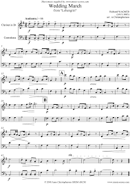 wedding march wedding march from lohengrin clarinet b sheet by