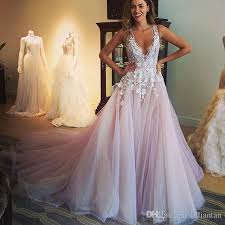 blush wedding dress discount designer blush wedding dresses arabic dubai tulle wedding