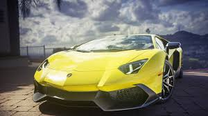 lamborghini sport lamborghini aventador yellow super sports car wallpaper