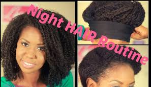 Protective Styles For Short Transitioning Hair - caring for natural hair at bedtime