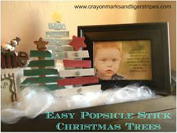 easy popsicle stick christmas tree and christmas card clothespins