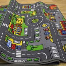 Large Kids Rug by Car Track Carpet Carpet Vidalondon