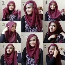 tutorial jilbab segi 4 untuk kebaya kreasi cara pakai hijab segi empat bergaya modern pusat grosir