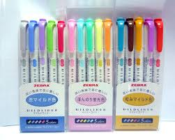 zebra mildliner 15 color double sided highlighter marker japan