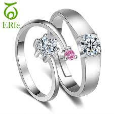 promise ring engagement ring wedding ring set er wedding band forever ring pair simple silver color