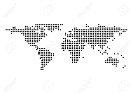 Vector World Map Vector World Map Dot Isolate Royalty Free Cliparts Vectors And