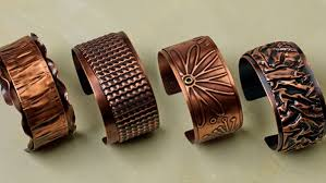 copper jewelry bracelet images Textured copper cuff facet jewelry making jpg