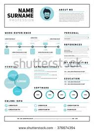 Resume Simple Design Resume Template Stock Images Royalty Free Images U0026 Vectors