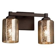 bronze mercury glass bathroom lighting interiordesignew com