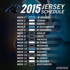 panthers jersey schedule 2015