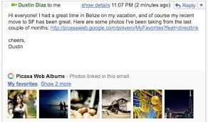 official gmail blog new in labs youtube picasa flickr and yelp