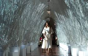 decorating in white melania trump unveils white house christmas decorations time