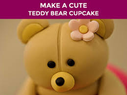 how to make a cute teddy bear cupcake