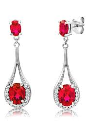 byjoy jewellery byjoy 925 oval shape ruby dangle earrings more info could be