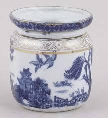 Willow Pattern Jam Pot   booths real old willow jam or preserve pot c1920s jam pots