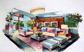 House Design Drawing Online Great Free Hand Drawing Interior Design 12 For Your Online Design