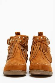 s boots with fringe soda fringe gold accent moccasin ankle boots cicihot boots