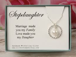 Wedding Gift Necklace Gift For Stepdaughter Gift From Stepmom Sterling Silver Swarovski