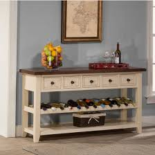 Hallway Table With Drawers Tuscan Retreat Collection Wine Rack Hall Table With Five Drawers