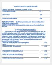 acquisition plan template strategy template 226 free word excel pdf ppt documents