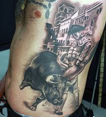 70 bull tattoos for men eight seconds of 2 000 pound furry