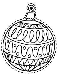 ornament coloring pages free printables archives with christmas