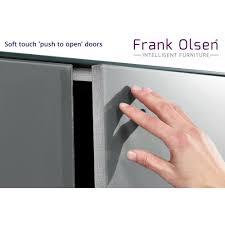 frank olsen intel1500wht gry white 1500 tv cabinet grey doors
