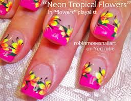 hawaiian flower nail art designs sbbb info