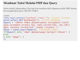 membuat query tabel php mysql ppt download