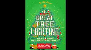 lenox tree lighting 2017 sunday on channel 2 macy s great tree lighting wsb tv