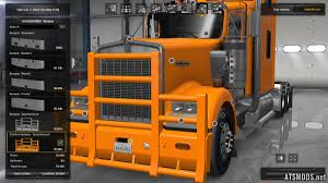 kenworth truck accessories standalone painted bumper quarterback for kenworth w900 mod for