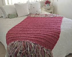 macrame look fringe throw blanket home accent neutral decor