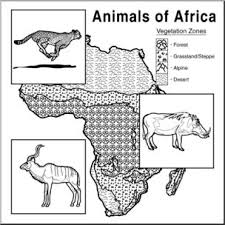 clip art animals of africa coloring page i abcteach com abcteach